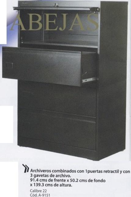 Archivero Horizontal Combinado A 9151 1