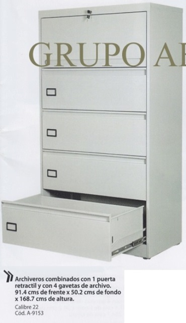 Archivero Horizontal Combinado A 9153 1