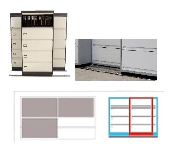 Archivero Movil Combinado SAC  9181 01