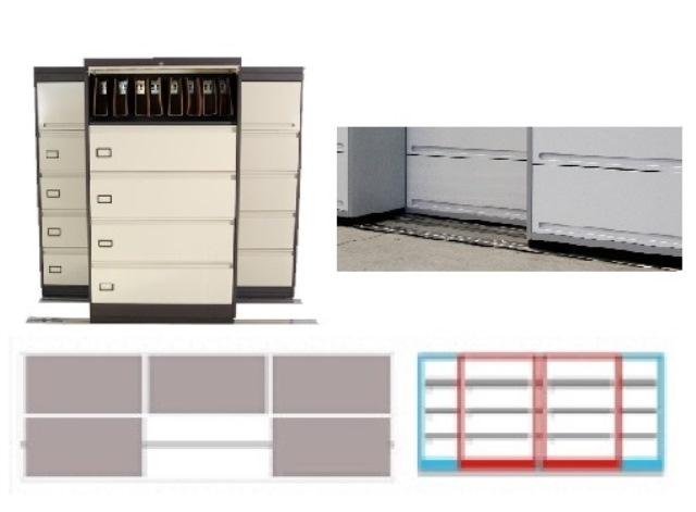 Archivero Movil Combinado SAC  9182 01