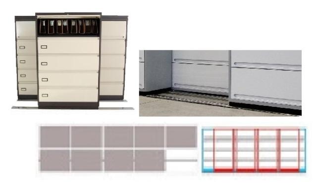 Archivero Movil Combinado SAC  9184 01