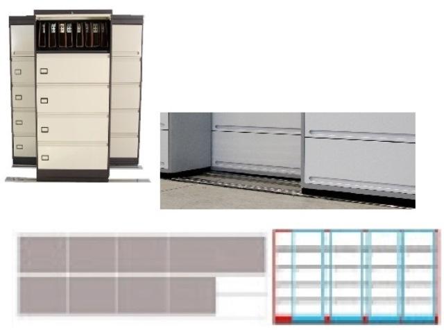 Archivero Movil Combinado SAC  9192 01