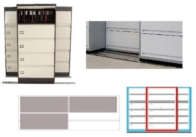 Archivero Movil Combinado SAC  9193 01