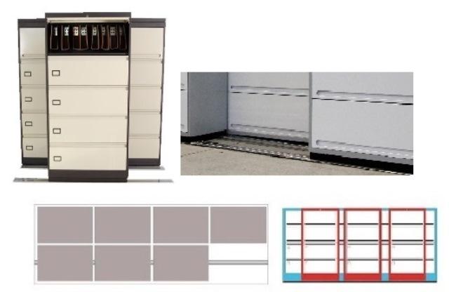 Archivero Movil Combinado SAC  9195 01