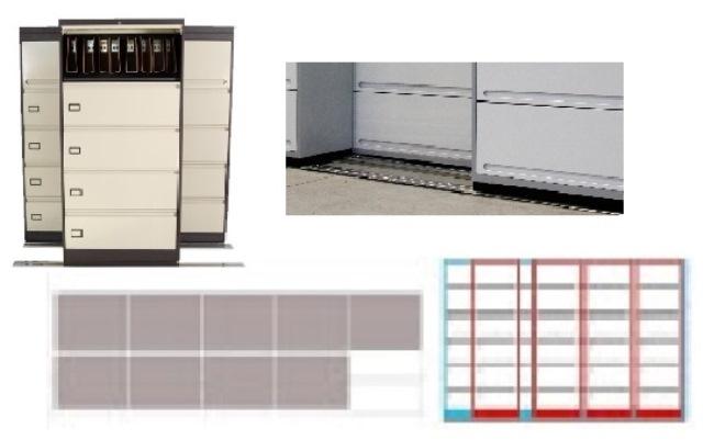 Archivero Movil Combinado SAC  9196 01