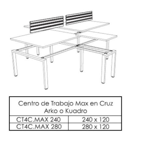 Centro de Trabajo Espejo L Max 240 280 x 120 2 1