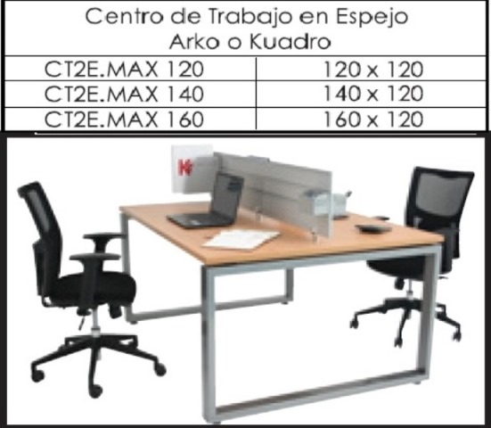 Centro de Trabajo Espejo Max 120 140 160