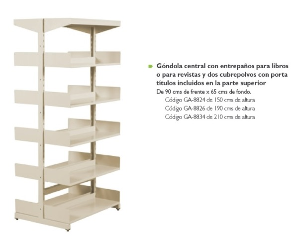 Gondola para Libros y Revistas GA  8834