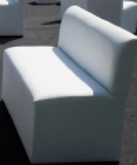 Love seat en vinil blanco