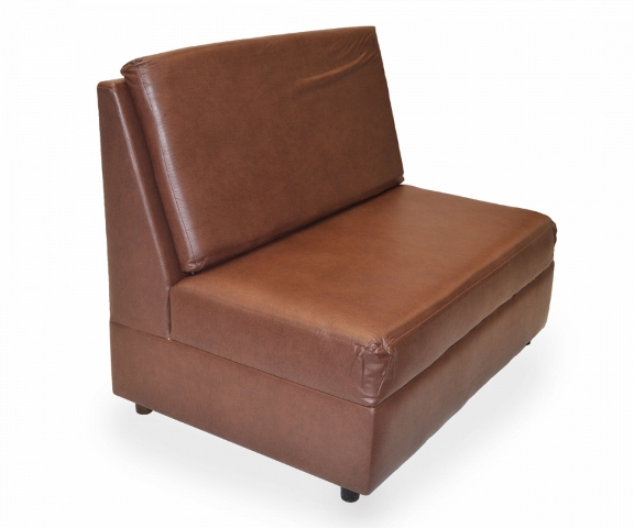 Love seat en vinil chocolate