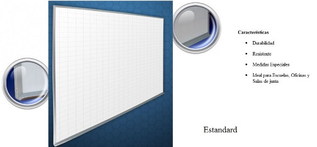 Pizarron Cuadricula Reforzado Blanco Medidas 0.90 x 2.40