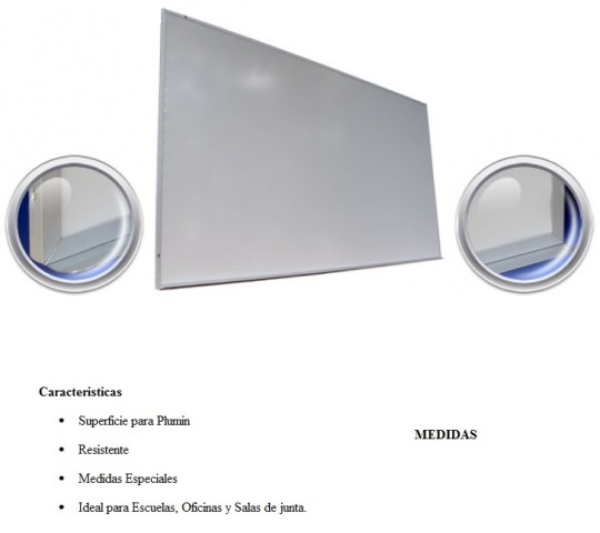 Pizarron Magnetico Imperio Blanco Medidas 0.90 x 1.20