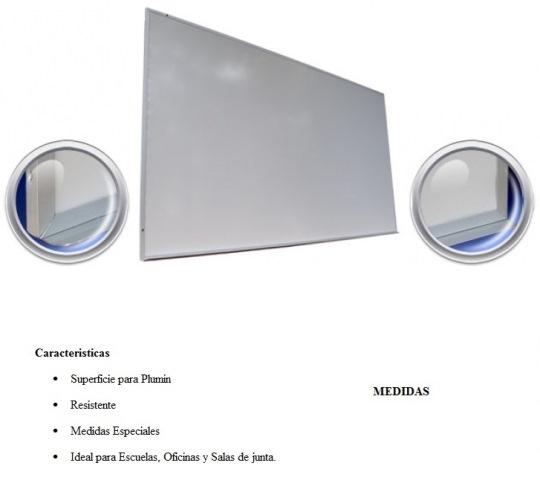 Pizarron Magnetico Imperio Blanco Medidas 0.90 x 1.80