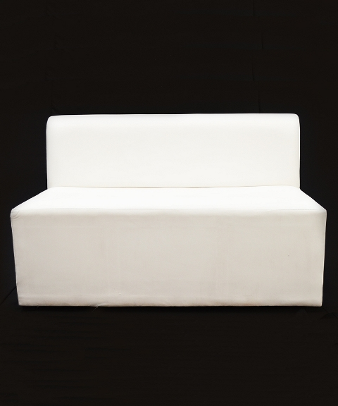 Sofa en vinil blanco